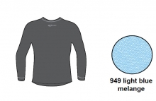 Футболка с длинным рукавом Accapi Tecnosoft Plus JR light blue/melange 13-14